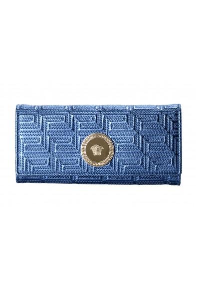 Versace Women's Sparkle Blue 100% Leather Medusa Embellished Wallet: Picture 2