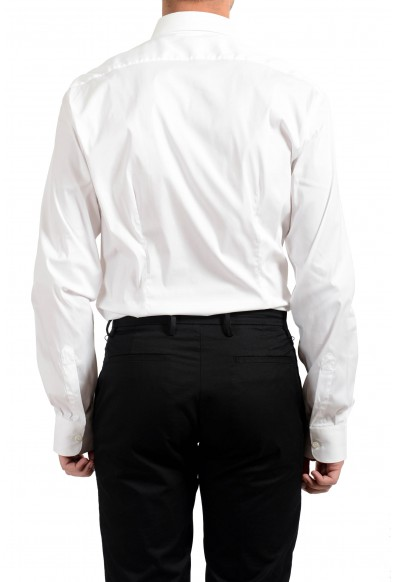 Malo Men's White Stretch Long Sleeve Dress Shirt: Picture 2