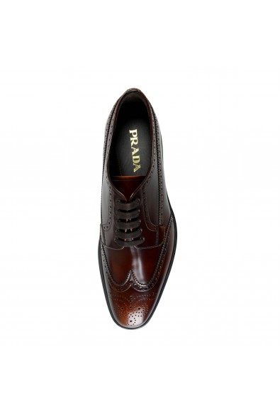 Prada Men's 2EE285 Deep Brown Leather Casual Oxfords Shoes: Picture 2