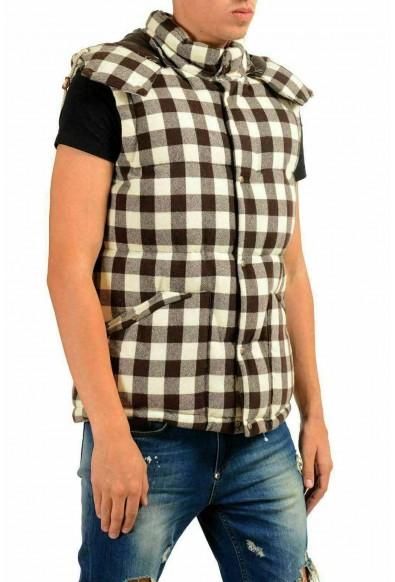 """Moncler X Visvim Men's """"PAIBAR"""" Wool Plaid Hooded Down Vest: Picture 2"""