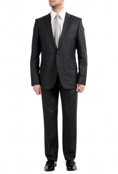 "Hugo Boss ""Alim2/HimensHM"" Men's 100% Wool Gray Two Button Suit"