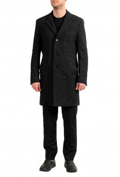 "Hugo Boss Men's ""Nye2"" Slim Fit Multi-Color Wool Button Down Coat"