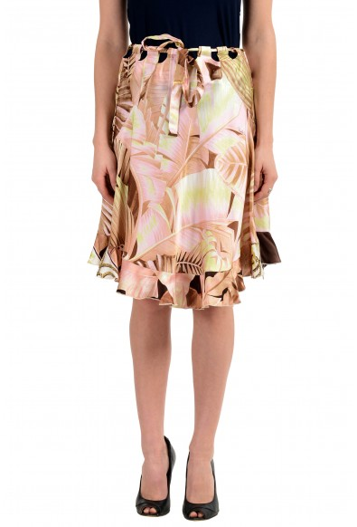 Roberto Cavalli Women's Multi-Color 100% Silk A-Line Skirt