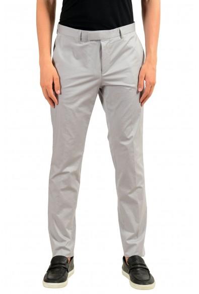 "Hugo Boss ""Heiron"" Men's Gray Stretch Casual Pants"