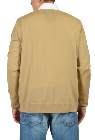 Prada Men's Brown 100% Wool V-Neck Sweater : Picture 2