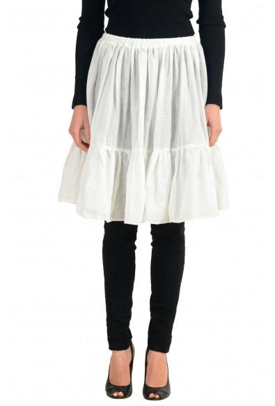 Red Valentino Spa White See Through Elastic Waist Women's Skirt