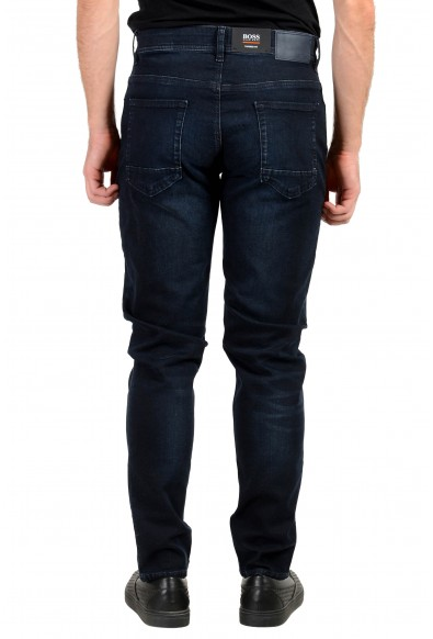 """Hugo Boss Men's """"Taber BC-P"""" Tapered Fit Dark Blue Wash Stretch Jeans: Picture 2"""