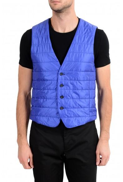 """Hugo Boss Men's """"Hiwan"""" Blue Lightly Insulated Vest"""