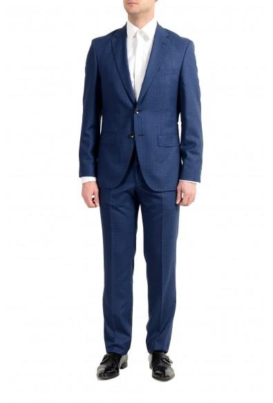 """Hugo Boss """"Johnstons5/Lenon1"""" Men's 100% Wool Blue Two Button Suit"""