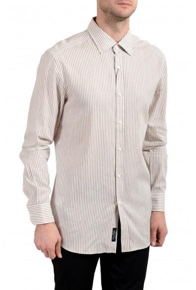 """Hugo Boss """"T-Shane"""" Men's Linen Striped Slim Long Sleeve Dress Shirt"""