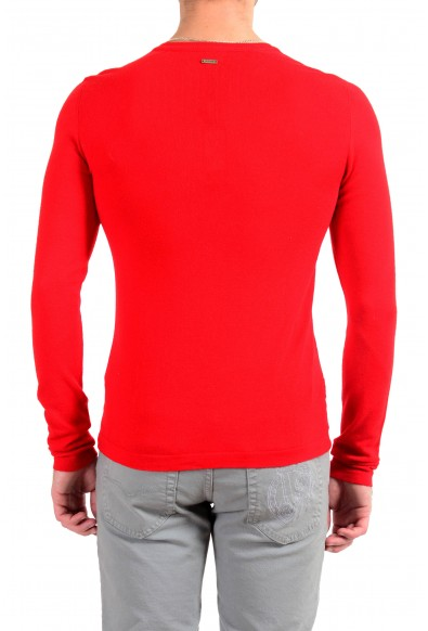 Just Cavalli Men's Red 100% Wool Pullover Sweater: Picture 2