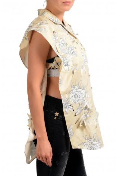 Maison Margiela Linen Multi-Color Floral Distressed Women's Blouse Top: Picture 2