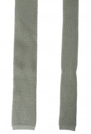 Hugo Boss Men's Sage Green 100% Silk Square End Tie: Picture 3
