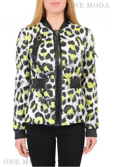 Just Cavalli Multi Color Full Zip Reversible Duck Down Women's Jacket
