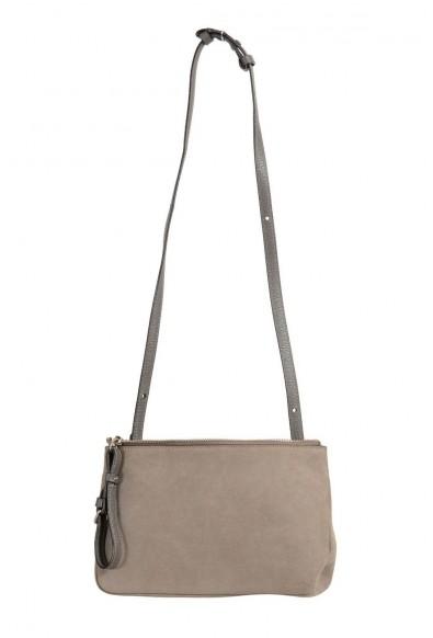 Maison Margiela 11 100% Leather Gray Crossbody Women's Clutch Bag