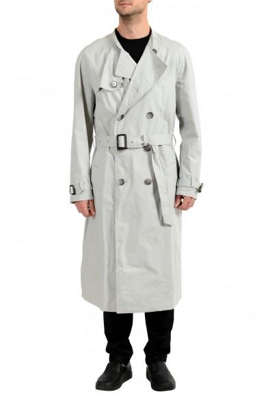 "Hugo Boss Men's ""NAGANO_FS"" Stone Gray Belted Trench Coat"