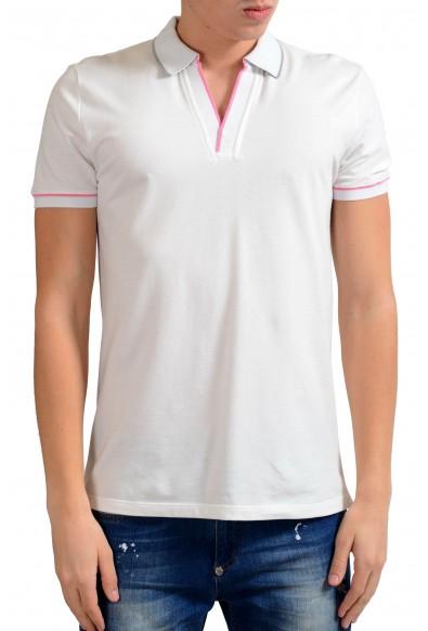 Malo Men's White Stretch Short Sleeve Polo Shirt