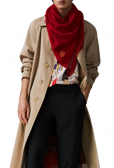 Burberry London Unisex Bright Red 100% Cashmere Scarf Shawl