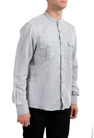 """Hugo Boss Men's """"T-Steve"""" Gray Linen Long Sleeve Casual Shirt : Picture 2"""
