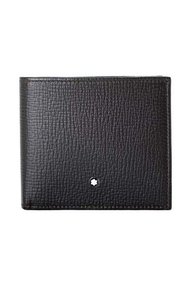 Montblanc Men's Brown Textured Leather Bifold Wallet