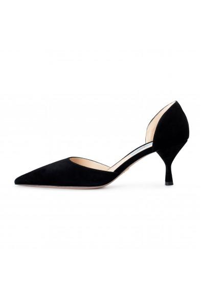 Prada Women's IT240L Black Suede Leather Pumps Shoes: Picture 2