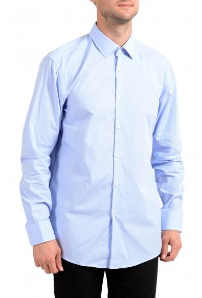 """Hugo Boss Men's """"Marley US"""" Sharp Fit Blue Long Sleeve Dress Shirt"""