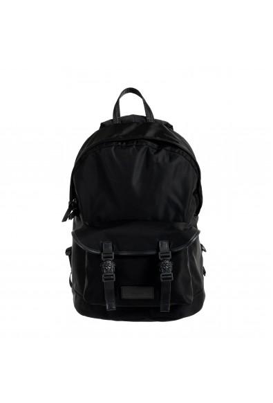 Versace Unisex Black Canvas Backpack Bag