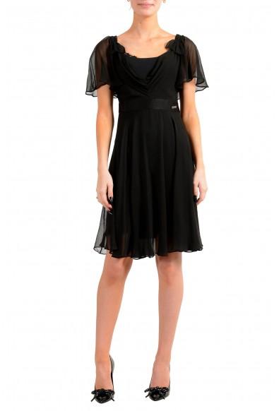 John Galliano Women's Black 100% Silk See Through Dress