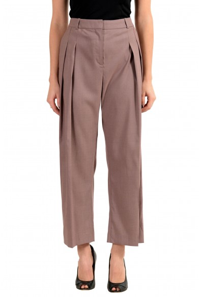 "Hugo Boss ""Terimana2"" Women's 100% Wool Pleated Casual Pants"