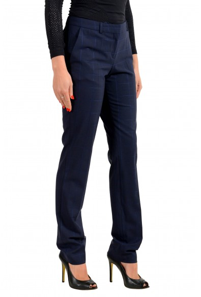 "Hugo Boss Women's ""Titana6"" Blue Plaid Dress Pants: Picture 2"
