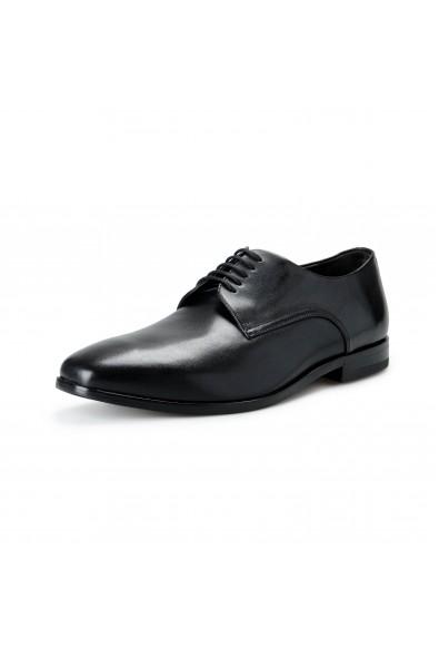 """Hugo Boss Men's """"Highline_Derb-bu"""" Black Leather Derby Shoes"""