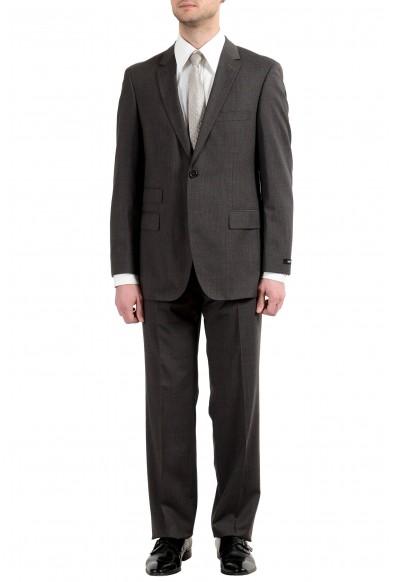"Hugo Boss ""Edison2/Power"" Men's 100% Wool Brown Two Button Suit"