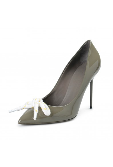 Burberry London Women's FINSBURY Gray Patent Leather Pumps Shoes