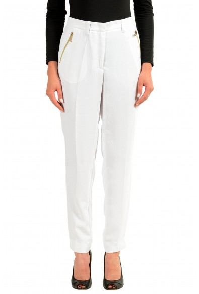 Versace Jeans White Women's Casual Pants