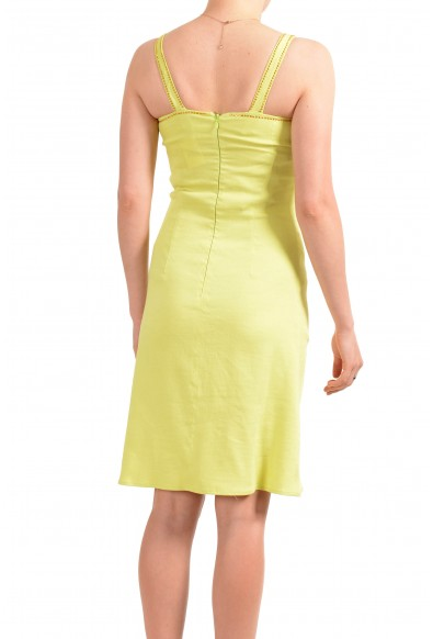 Versace Jeans Couture Women's Lime Green Linen Bodycon Dress: Picture 2