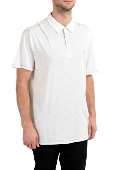 John Varvatos Star USA Men's White Short Sleeve Polo Shirt : Picture 2
