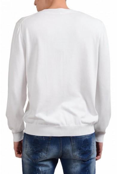 Malo Men's White Crewneck Light Sweater: Picture 2