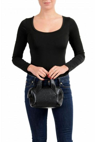 Just Cavalli 100% Leather Black Embellished Women's Handbag Shoulder Bag: Picture 2