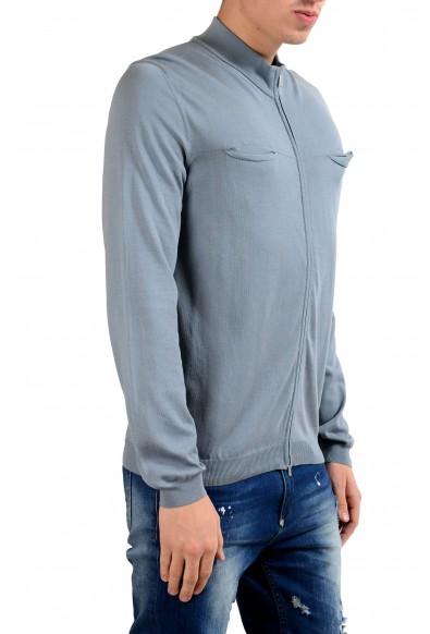 Malo Men's Stone Blue Full Zip Light Sweater: Picture 2