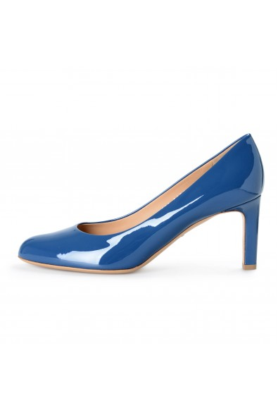 "Salvatore Ferragamo Women's ""Leo"" Pacific Patent Leather High Heel Pumps Shoes: Picture 2"
