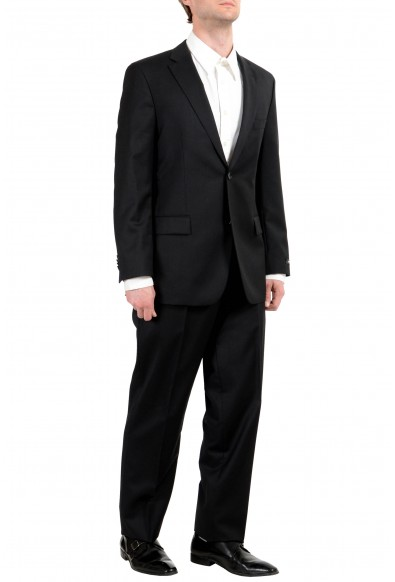 "Hugo Boss ""Paolini1/Movio1US"" Men's 100% Wool Black Button Two Button Suit: Picture 2"
