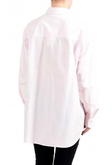 "Hugo Boss Women's ""Reeka"" White & Pink Striped Blouse Top Shirt: Picture 2"