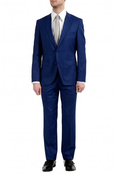 "Hugo Boss ""Jets3/Lenon1"" Men's 100% Wool Blue Two Button Suit"