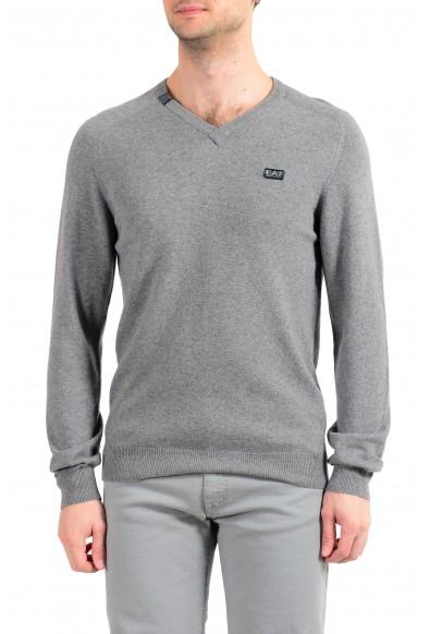 """Emporio Armani EA7 """"Golf"""" Men's Cashmere Wool Gray V-Neck Sweater"""