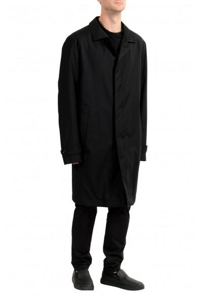 "Hugo Boss ""T-Garrick"" Men's 100% Wool Black Lined Trench Coat: Picture 2"