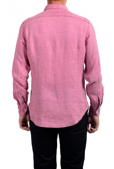 Malo Men's 100% Linen Pink Long Sleeve Dress Shirt: Picture 2