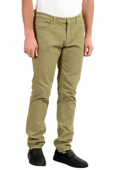 Versace Collection Men's Gray Stretch Slim Jeans: Picture 2