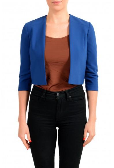 "Hugo Boss Women's ""Jikiva"" Royal Blue Buttonless Blazer"