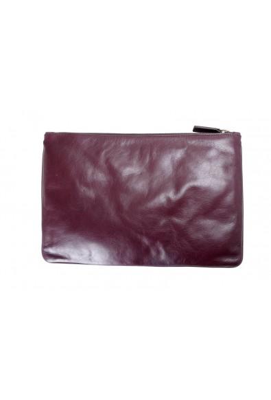 Jil Sander 100% Leather Burgundy Women's Clutch Bag: Picture 2
