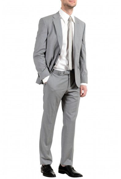 """Hugo Boss """"Johnstons4/Lenon1"""" Men's 100% Wool Gray Two Button Suit: Picture 2"""